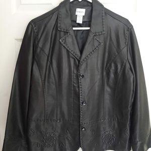 Chico's Black Pleather Jacket